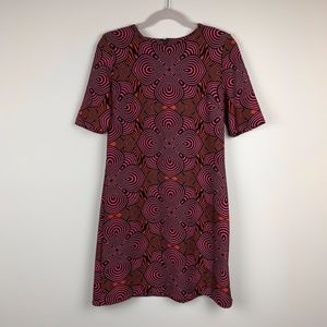 Taylor // Pink Red Pattered Dress Size 8